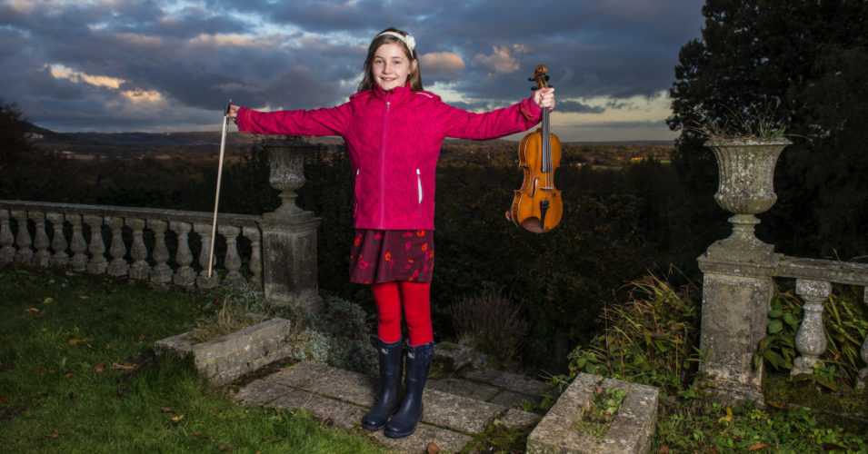 English composer, pianist, violinist and child prodigy,  Alma Deutscher pictured at her home in Dorking, Surrey. Picture by Daniel Hambury/Stella Pictures Ltd +44 7813 022858 07/11/2016